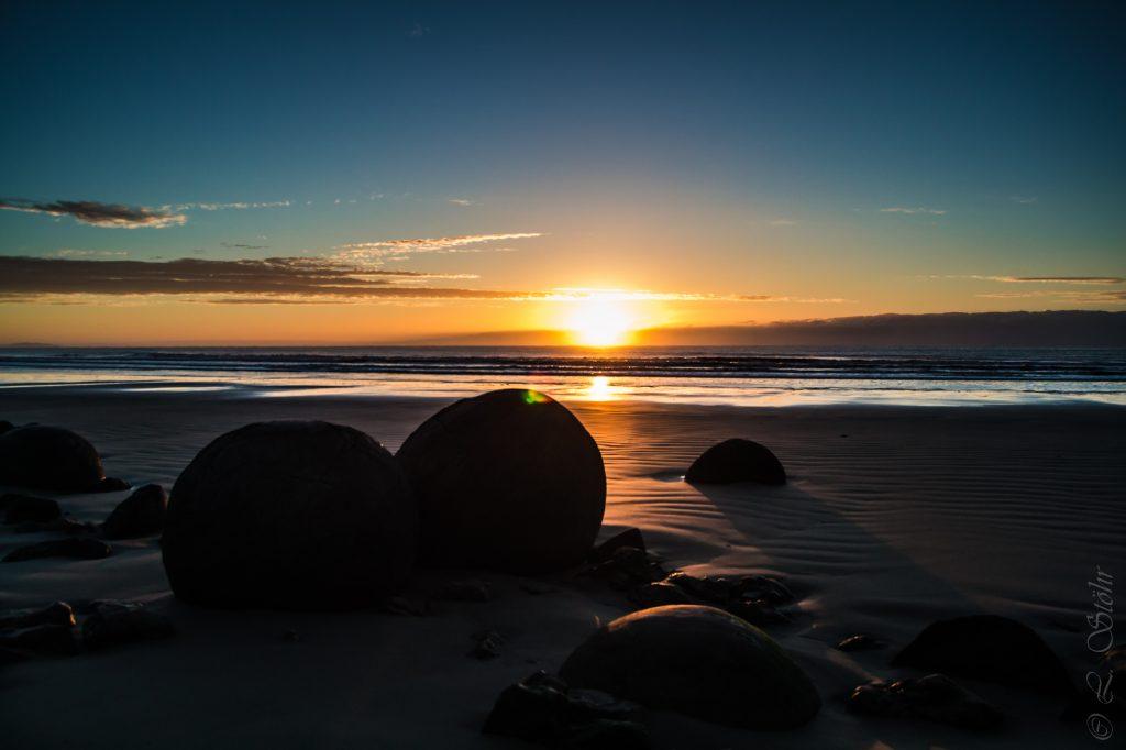Bild Neuseeland Strand Sonnenuntergang, Copyright Lisa Stöhr