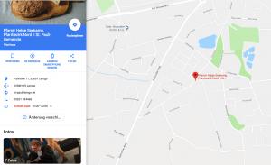Pfarramt Pahnsiek Google-Map