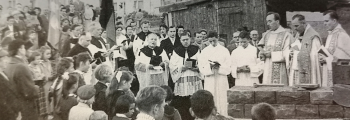 Grundsteinlegung für die katholische Kirche in Brake