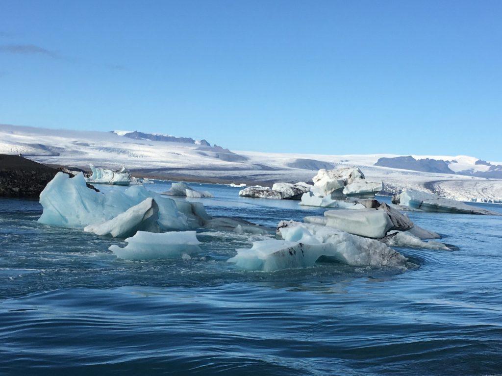 Eisbrocken vor Island